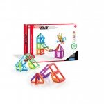 Guidecraft PowerClix� Frames - 26 Piece Set: PowerClix� Frames have colorful, translucent plastics and geometric shapes that allow for open-ended, creativity-inspiring 2D and 3D constructions., Frames are for teaching and exploring wireframe geometry.