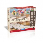 Guidecraft Roadway System 42 Piece Set: 42 pieces, hardwood veneered pieces, large group play, builds teamwork (G6713)