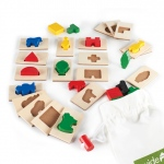 Guidecraft 3D Feel & Find: 20 shapes, canvas bag included, safe non-toxic paint, colorful (G5060)