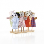 Guidecraft Puppet Stand: solid hardwood, holds 8 puppets, birch construction, versatile (G97050)