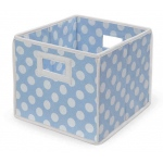 Badger Basket Folding Basket Storage Cube: Blue Polka Dots