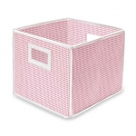 Badger Basket Folding Basket Storage Cube: Pink Gingham