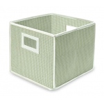 Badger Basket Folding Basket Storage Cube: Sage Gingham
