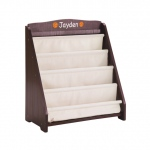 Guidecraft Expressions Book Display Espresso: can be personalized, easy cleaning, deep pockets, book storage (G87302)