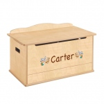 Guidecraft Expressions Toy Box Natural: can be personalized, finger hole cut outs, heavy duty safety support, ample storage (G87203)