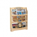 Guidecraft Expressions Bookrack Natural: can be personalized, solid construction, metal hardware, mounting hardware included (G87207)