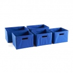 Guidecraft Set of 5 Bins Blue