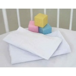 Badger Basket WHITE Fitted Bassinet Sheets for ELEGANCE Bassinets: Set of 2