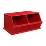 Badger Basket Two Bin Storage Cubby: Red