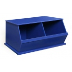Badger Basket Two Bin Storage Cubby: Blue