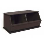 Badger Basket Two Bin Storage Cubby: Espresso