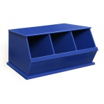 Badger Basket Three Bin Storage Cubby: Blue