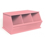 Badger Basket Three Bin Storage Cubby: Pink
