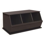Badger Basket Three Bin Storage Cubby: Espresso