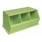 Badger Basket Three Bin Storage Cubby: Sage