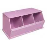 Badger Basket Three Bin Storage Cubby: Lilac