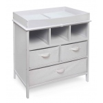 Badger Basket Estate Changing Table with 3 Baskets: White