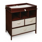 Badger Basket Estate Changing Table with 3 Baskets: Cherry