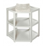 Badger Basket Diaper Corner Baby Changing Table: White