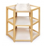 Badger Basket Diaper Corner Baby Changing Table: Natural