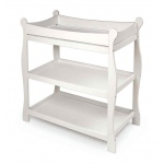 Badger Basket Sleigh Style Changing Table: White
