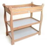 Badger Basket Sleigh Style Changing Table: Natural