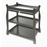 Badger Basket Sleigh Style Changing Table: Black