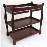 Badger Basket Sleigh Style Changing Table: Cherry