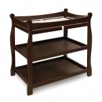 Badger Basket Sleigh Style Changing Table: Espresso