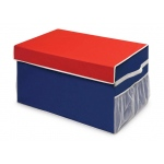 Badger Basket Large Folding Storage Box: Red and Blue