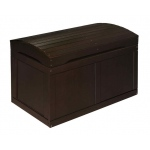 Badger Basket Hardwood Barrel Top Toy Chest: Espresso
