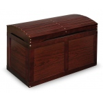 Badger Basket Hardwood Barrel Top Toy Chest: Cherry