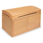 Badger Basket Hardwood Barrel Top Toy Chest: Natural