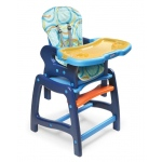 Badger Basket Envee Baby High Chair with Playtable Conversion: Blue and Orange