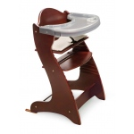 Badger Basket Embassy Adjustable Wood High Chair: Cherry