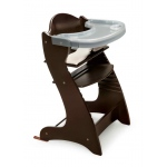 Badger Basket Embassy Adjustable Wood High Chair: Espresso