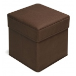 Badger Basket Brown Folding Storage Seat