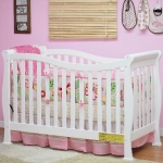 AFG Nadia 3-in-1 Convertible Crib: White