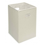 Badger Basket Folding Hamper Storage Bin: Ecru