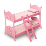 Badger Basket Blossoms & Butterflies Doll Bunk Beds with Ladder