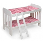 Badger Basket Doll Bunk Bed with Ladder: Chevron Print