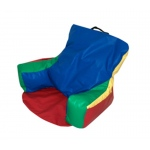 The Children's Factory Sit-N-Read Bean Bag: Rainbow