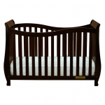 AFG Lorie 4-in-1 Convertible Crib with Guardrail Espresso