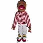 "Sunny Toys 24"" Ethnic Boy in Red Top"