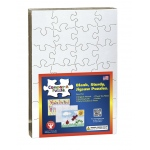"Hygloss Blank Puzzle: 8pcs, 6""x8"", Heart Shape, 100 puzzles"