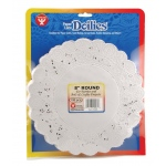 "Hygloss Round Doilies: White, 8"", Pack of 100"