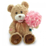 Animated Record-A- Voice Bear with Bouquet