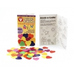 "Stick-A-Licks - 225/ 1-1/2"" Hearts, 1"", Pack of 225"