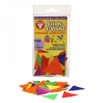 "Hygloss Stick-A-Licks -500/ 1"" Triangles"