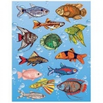 Hygloss Sticker Forms - Fish - 3 sheets